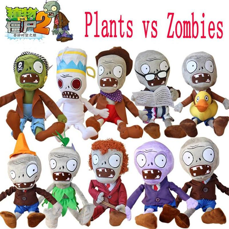 Hot 30cm Plants vs Zombies Plush Toys Kawaii Plush Plants vs Zombie Stuffed Toys Doll Children Kids Toys Birthday Christmas Gift