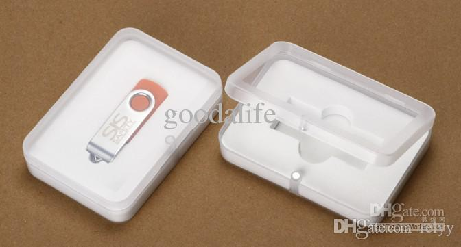 10 조각 PP 포장 직사각형 USB 포장 크기 100 x 70 x 22 MM 투명 선물 상자 3.94x2.75x0.86 인치.