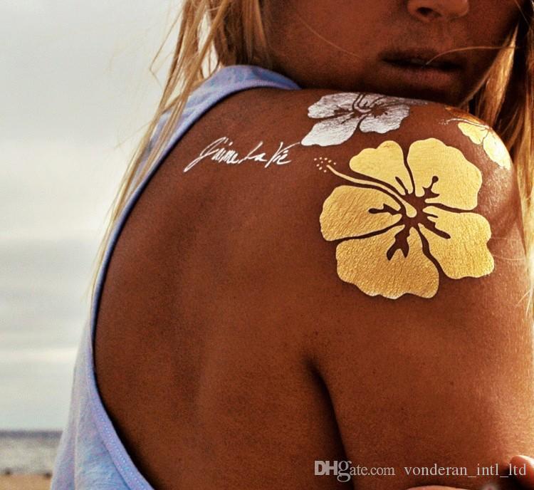 Gold flash татуировки наклейки роскошные золотые татуировки временные татуировки металлические татуировки золотые наклейки металлические татуировки наклейки татуировки оптом