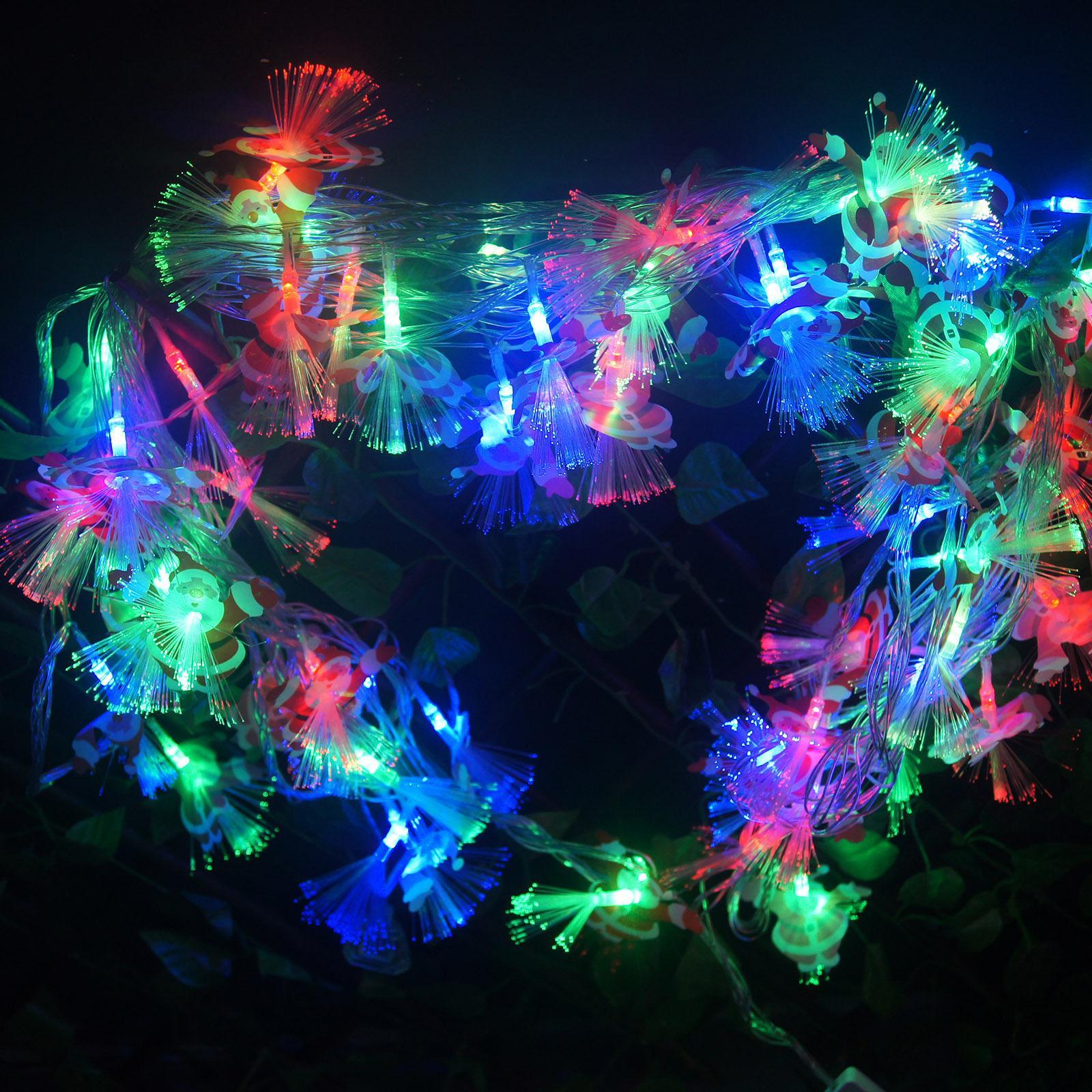 guirlande noel fibre optique