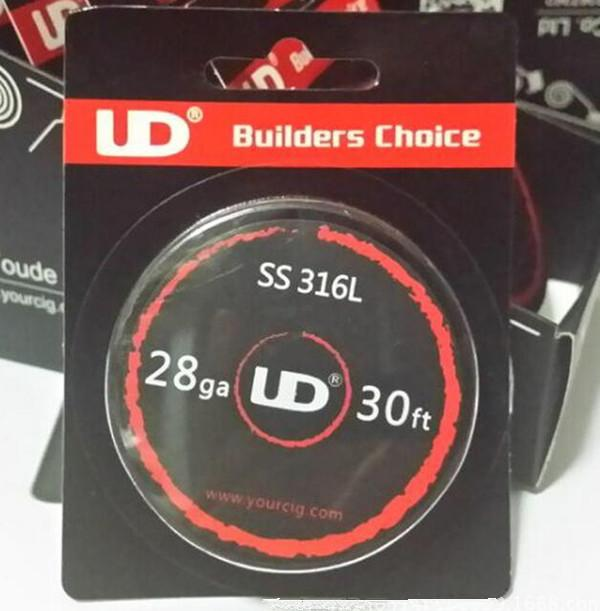 UD Wire Box Builders Choice Original Authentic Box Weerstand Draad Verwarming SS316L NI200 Nichrome Wire DHL