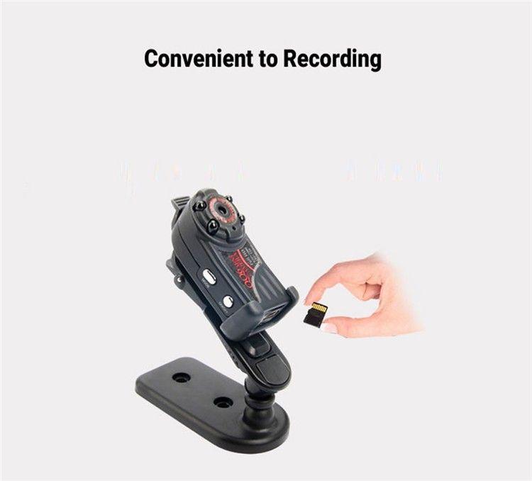 New arrival Smallest Full HD 1080P 720P Mini DV DVR Camera Camcorder IR Night Vision Motion Detect DVR QQ6 MINI DV (5)