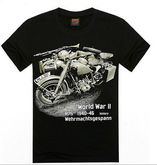FG 1509 2015 new fashion Motorcycle t-shirt men 3d t shirt summer fighting plane printing summer 3D t-shirts o-neck short-sleeve A15