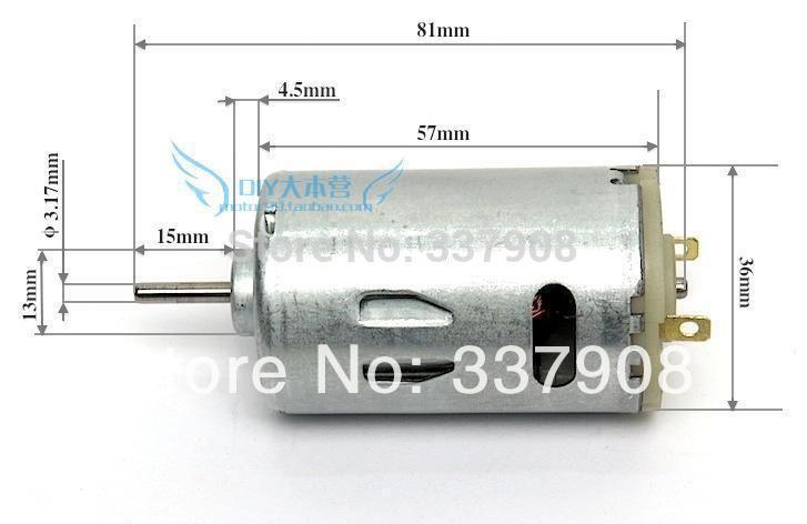 1 STKS 555 Elektrische Boor Motor Kogellager DION DIY Mini Grinder Motor 555 Motor, Sterk koppel