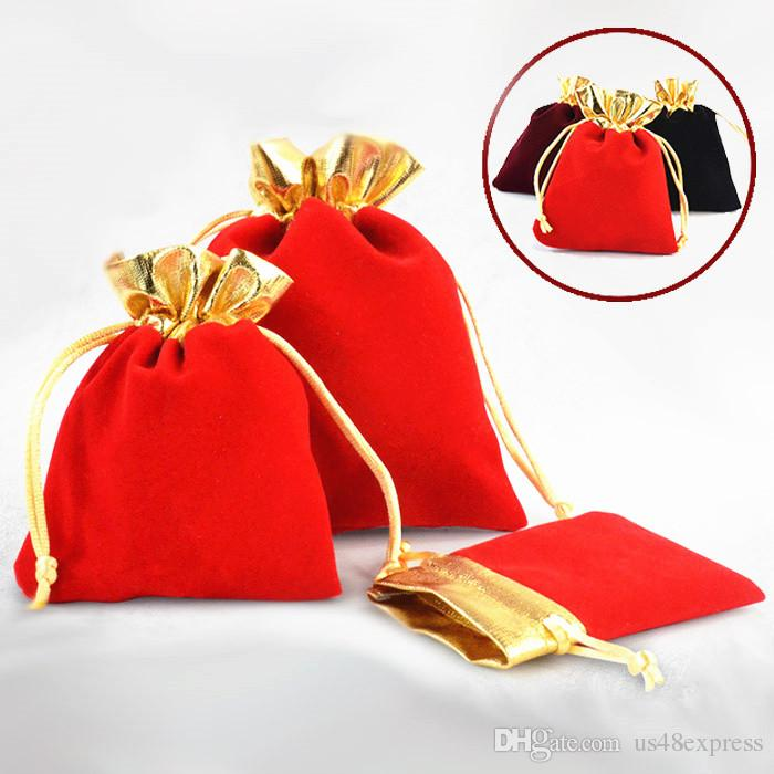 Velours Coloré Petits Sacs Sac Cadeau Sac De Cordon Pour Bijoux Boucle D'oreille Collier Paquet Velours Bijoux Sac Pochettes De Noël De Mariage Sac De Bonbons