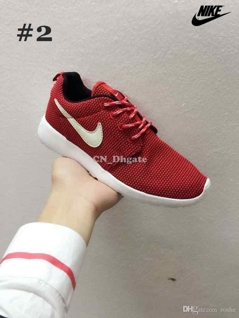 the latest 6cabb ce37b Nike Roshe Run Grey Pink Red Blue Orange Glow In The Dark Swoosh Men Women  Running Shoes Cheap Roshes Run Sport Trainers 36 44 Running Shoes Mens  Womens ...