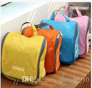 4 ألوان 23 * 23 * 10 سنتيمتر 2015 لون الحلوى ماكياج متعدد الوظائف حقيبة للماء حقيبة سفر منظم حقيبة غسل حقيبة يد LJJC319 50 قطع