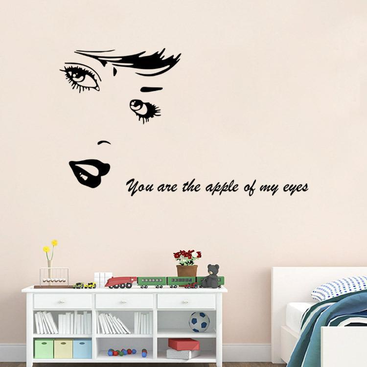 Vous êtes la pomme de mon œil de Marilyn Monroe Stickers muraux Home Art Murals Papier peint affiche Sketch of Marilyn Monroe Wall Graphic
