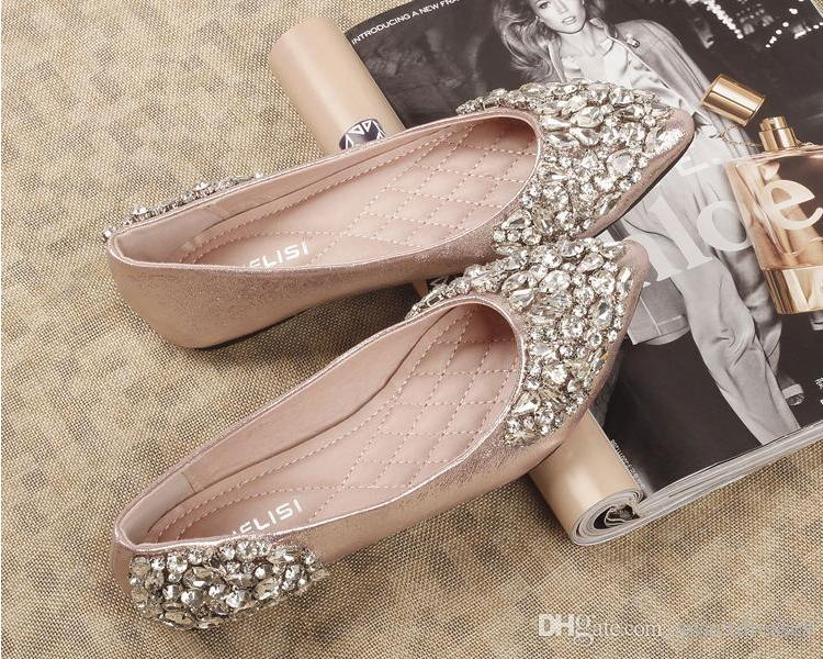 2015 rhinestones wedding shoes Bridal Shoes with Bling Sequins ...