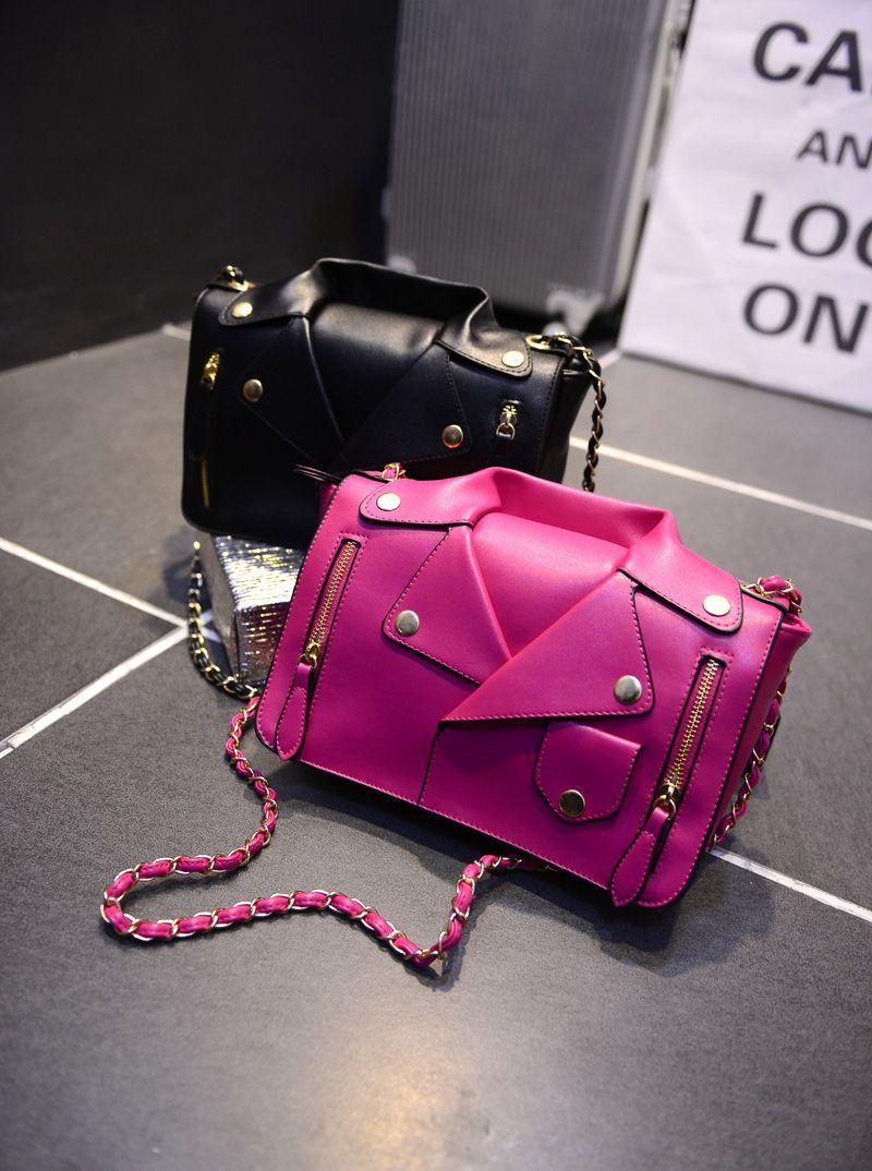2015 new comes Designer Handbags High Quality Women Leather Jacket Bags  Women Clothing Shoulder Messenger Bag Day Clutch Purse bags de4c3080ba9f1