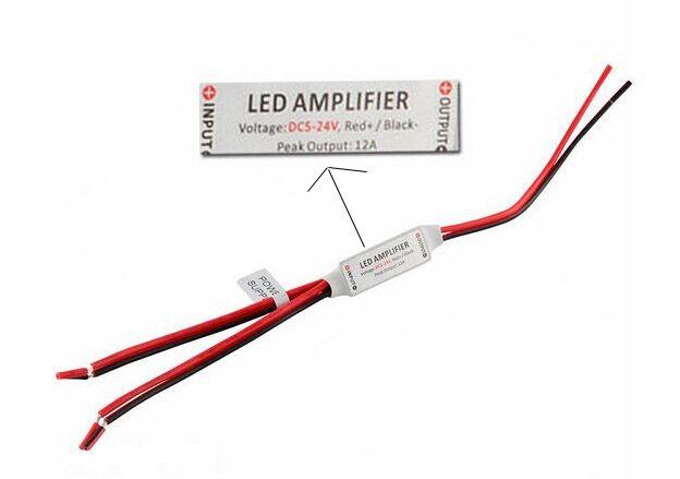 Mini LED Amplifier for smd 3528 5050 5630 Single Color LED Strip Light Ribbon Rope 12A 288W DC5-24V CE ROSH Free Shipping MOQ5 Dropshipping