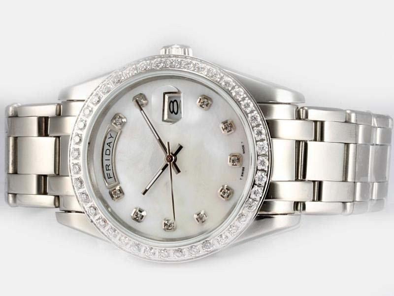 De acero inoxidable reloj masculino de la venta caliente, hombres de calidad superior del reloj automático de alta calidad reloj de pulsera Moda Diamantes Bisel R38