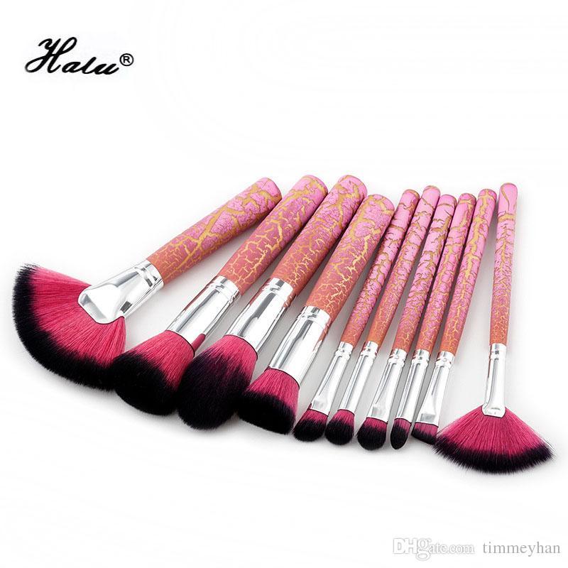 10pcs chaude rose fissure poignée maquillage pinceaux brosse de maquillage licorne ensemble Fondation Blush mélange fard à paupières cosmétique outil Kit