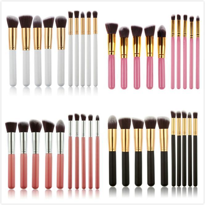 Wholesale New 200set Makeup Brushes 10pcs/set Make Up Beauty Brush Set Blusher Powder Cream Brush Cosmetic Multi-Function Blend Tool
