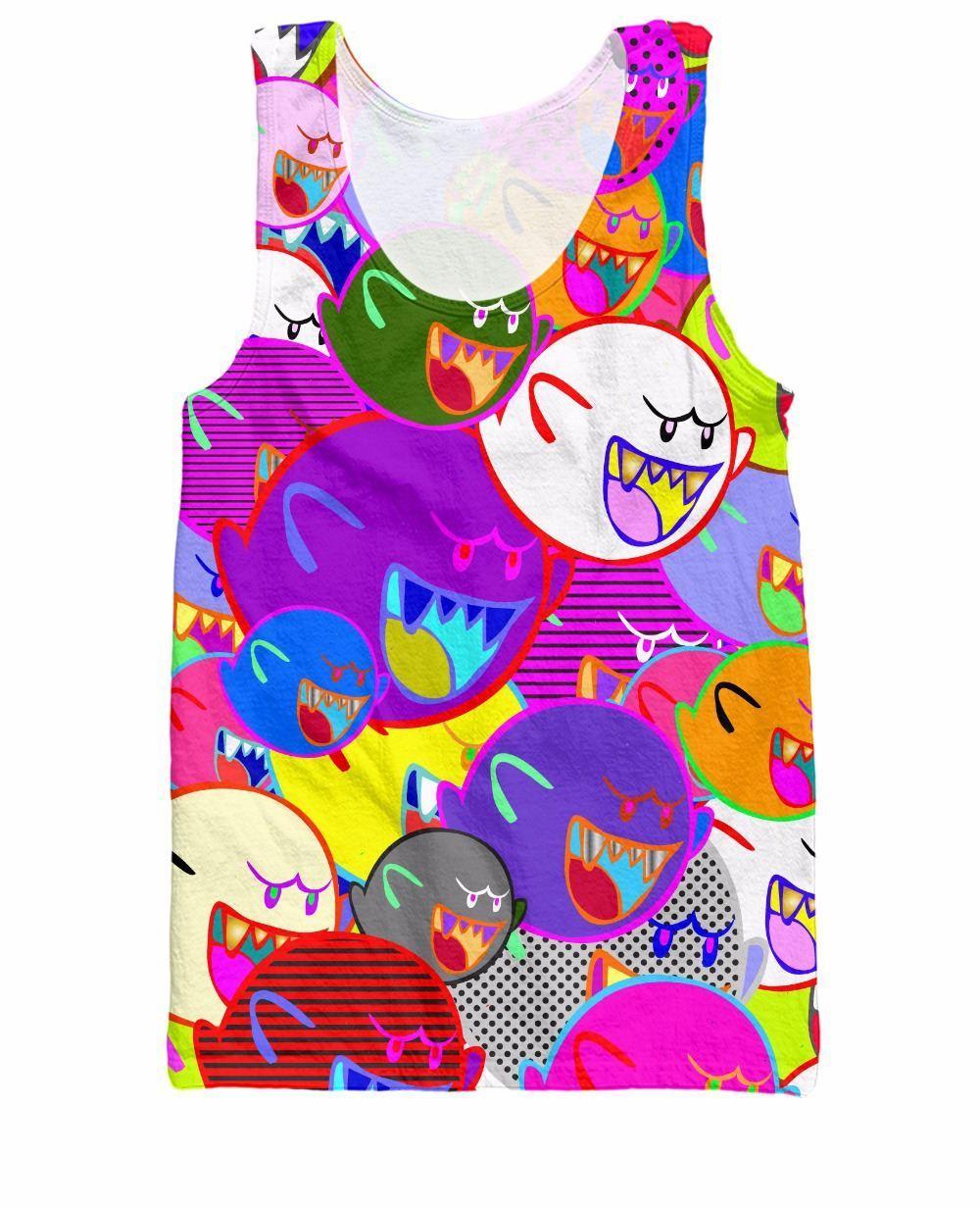 w151231 Canotta RuiYi Vibrant Boo ha perseguitato la nostra infanzia a 8 bit con la maglietta stampa Mario Bros 3d Stile estivo Abbigliamento moda