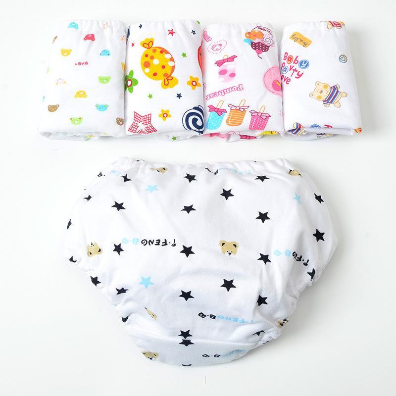 Crianças Cuecas Meninas 100% Algodão Roupa Interior Bebê Impressão Ativo Calções Crianças Roupas Bebê Triângulo Pão Calças