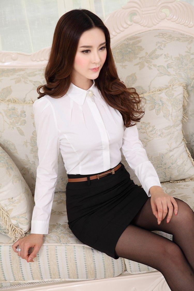 2017 2016 New Fashion Female Long Sleeve Chiffon Shirt Elegant Ol ...
