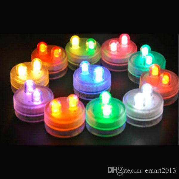 المزدوج الدين هدية عيد الميلاد led غاطسة للماء ضوء شمعة مصباح خزان الأسماك إناء الشاي حفل زفاف المنزل الديكور أضواء متعدد الألوان