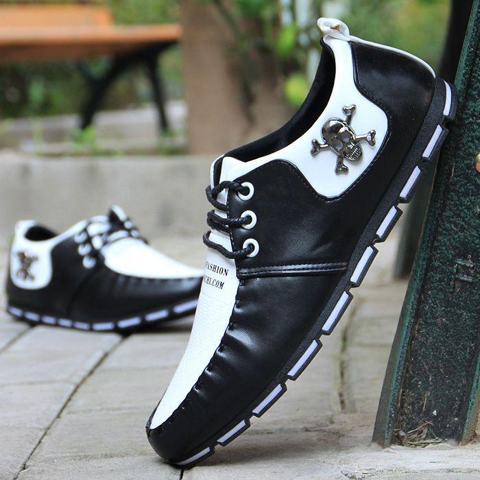 Ji Yinglun movimento da juventude de maré baixa dos homens sapatos de couro casuais para o outono / inverno sapatos sapatos Doug negócio