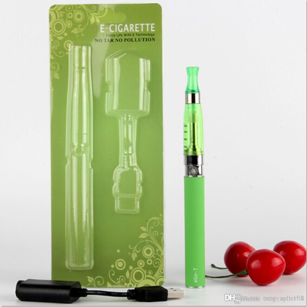 electronic cigarette eGo T CE5 starter Blister kit with CE5 vaporizer clearomizer tanks vape for 650 900 1100 mah ego-T batteries kits