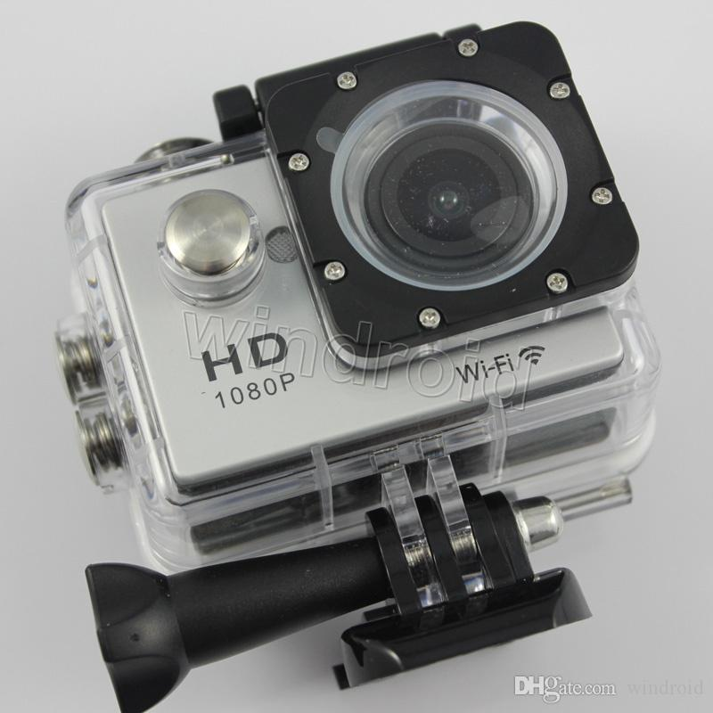 W9 Wifi 30M Waterproof Sports Action Video Camera Camcorder 170 Degree Angles HDMI 2 inch full HD 1080P Free DHL 5pcs