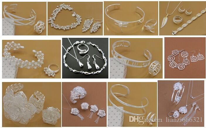 Darmowa wysyłka z numerem śledzenia Najlepsze Najlepsze Najlepsze Najlepsze Gorące Sprzedam Delikatne Delikatne Biżuteria Prezent 925 Posrebrzana Mix Biżuteria Zestaw 12 Zestaw 1044