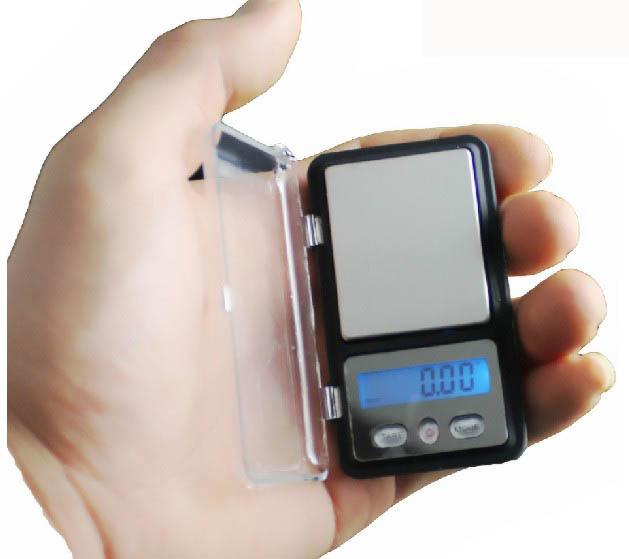 Livraison gratuite 10pcs / lot mini 200g 0.01g affichage LED électronique Portable Digital Scale bijoux steelyard poids or diamant balances
