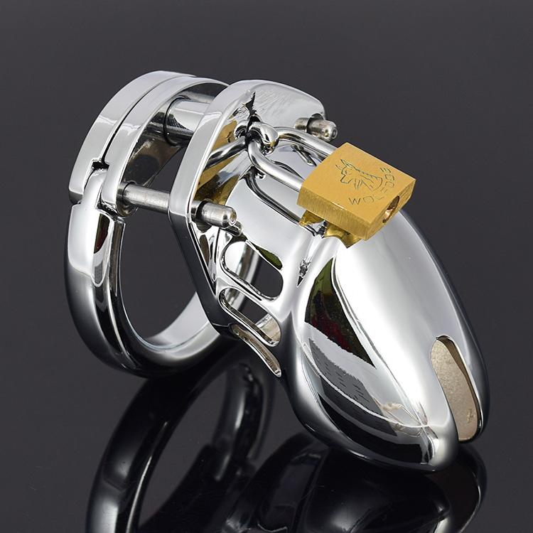 Prodotti per adulti Dispositivi per castità Gabbia per castità in metallo Gabbia per maschi Gabbia per castità Cintura per pene Giocattoli del sesso per uomini
