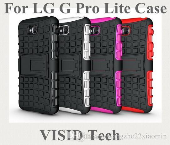 Darmowa wysyłka w magazynie TPU PC Heavy wstrząsy Duty Armor Stand Case dla LG G4 G5 G4 Mini dla LG Telefon Torba