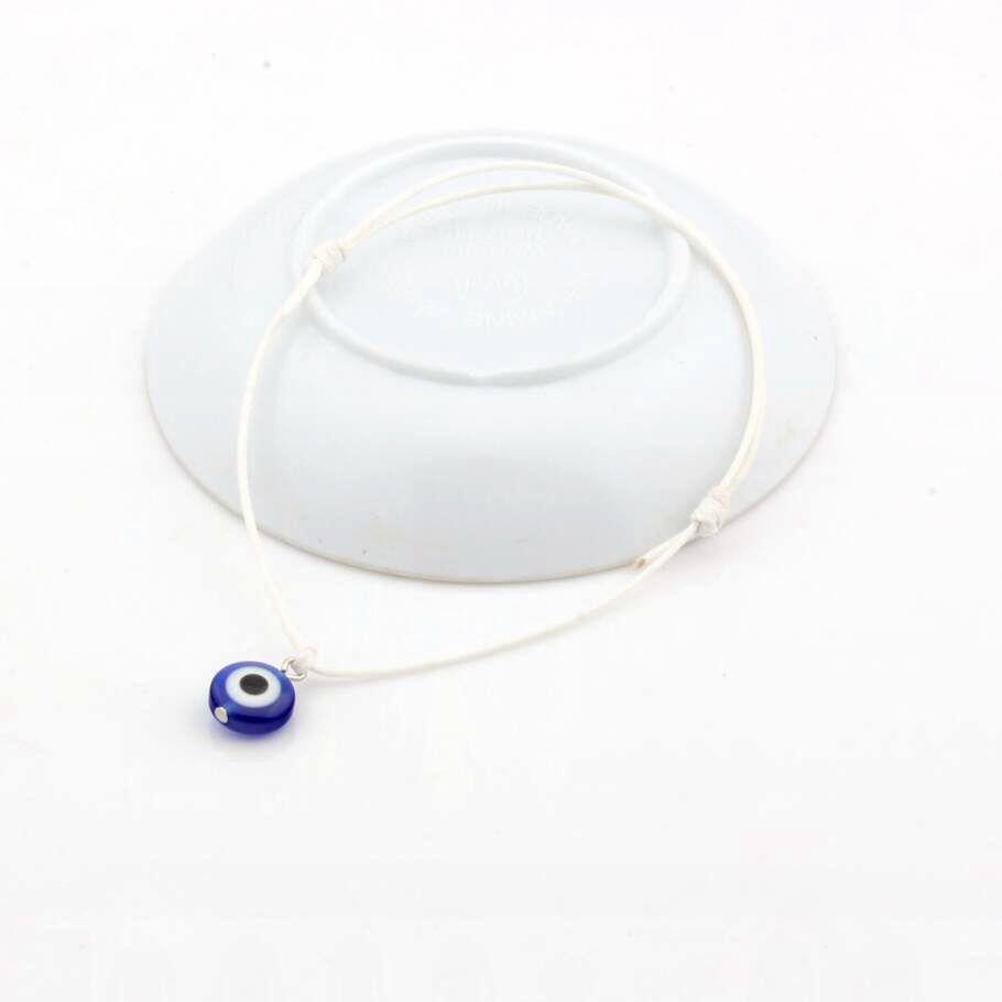 Горячей ! 50pcs Evil Eye Bracelets - Регулируемые белые восковые веревки Шарм Браслеты Lucky Eye Beads Браслеты