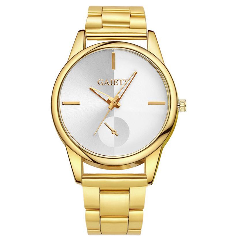 Marca creativa Relojes señora venta de lujo Para Las Mujeres 2018 Banda de correa de acero inoxidable Oro Modelo Moda cuarzo Relojes de Pulsera Para Damas en línea