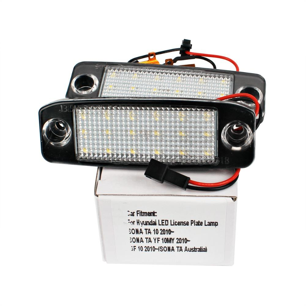 Car Led License Plate Lights 12v Smd Led Number Plate Lamp Bulb Kit For Hyundai Sonata Yf 10my Gf 10 Accessories From Vivian Astra 9 94 Dhgate Com