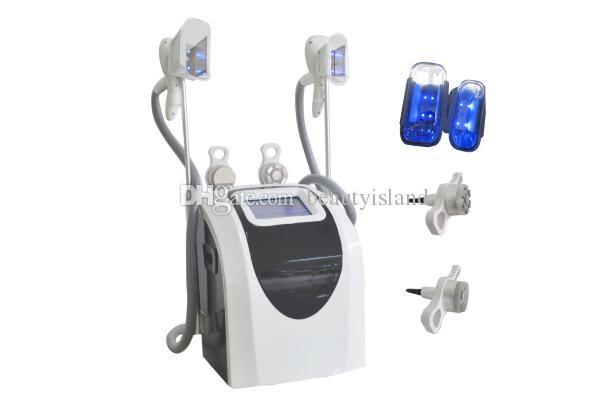 듀얼 핸들은 체중 감소 바디 슬리밍 초음파 캐비테이션 RF 무선 requency와 지방 냉동 슬리밍 기계를 조각 몸을 냉각