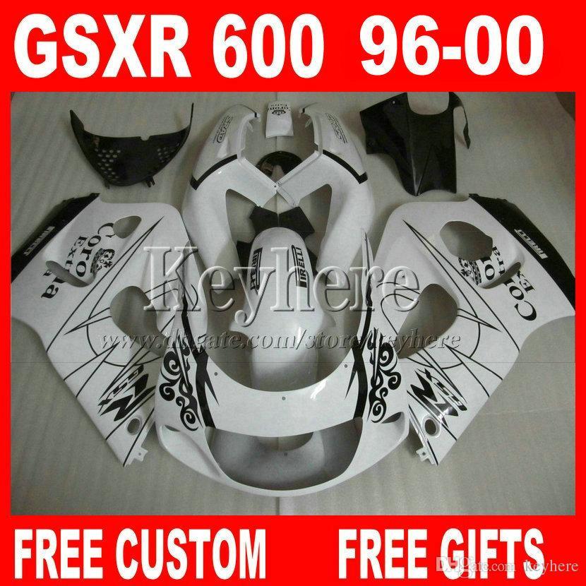 كورونا كيت فيرينج إكسترا لسوزوكي سراد GSXR600 96 97 98 99 00 GSXR750 FAINTESS WHITE GSXR 600 750 1996 1997 1998 1999 2000 8J4F