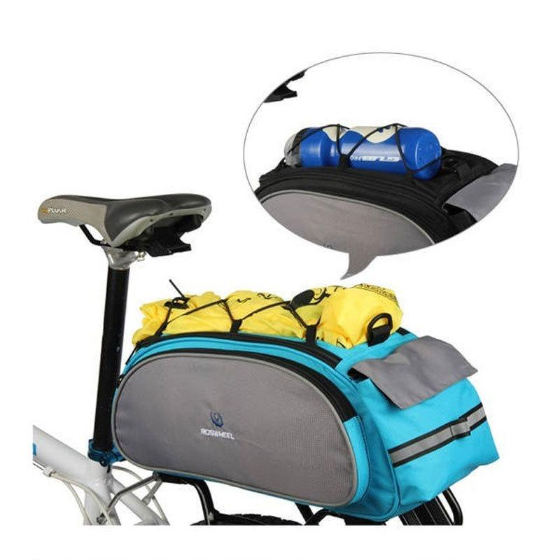 Roswheel 13L Impermeable Ciclismo Mountain Road MTB Bike Bicycle Frame Rack Pack Multifuncional Bolsa Azul / Negro Al Por Mayor