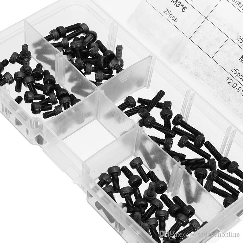 Tornillos de casquillo de la cabeza de zócalo del hex. Del tornillo de acero de aleación de los tornillos del hexágono de 100pcs M3