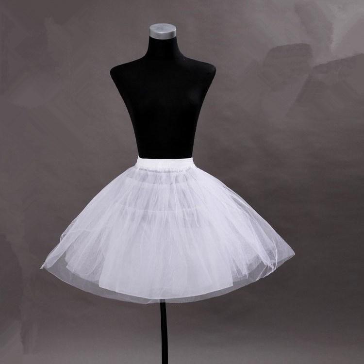 Черные белые дешевые короткие платье подложки свадебные платья петтикосов 3 слои мини-свадебные кринолины TUTU юбка бесплатная доставка