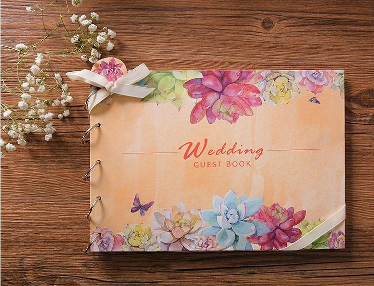 Christmas Winter Signature Guest Book Silver Wreath Wedding Guest Book Winter Canvas Guest Book Christmas Gift Ideas -CGB153