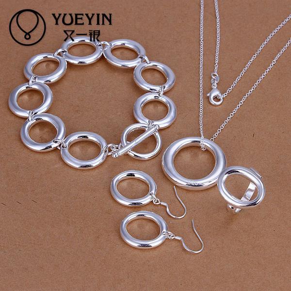 Presente de natal 925 Sterling Silver conjunto de jóias S319 2015 venda a granel barato conjuntos de jóias de festa nupcial
