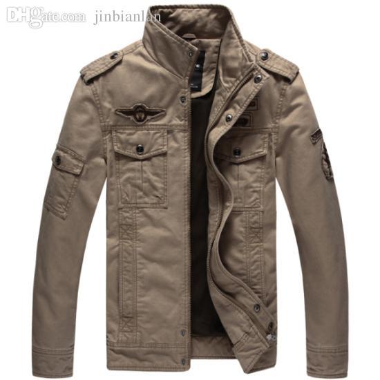 Otoño-Extra de gran tamaño de la chaqueta de los hombres de la marca más el tamaño 6XL nuevo costo de la llegada air army outerwear deportes chaquetas de bordado