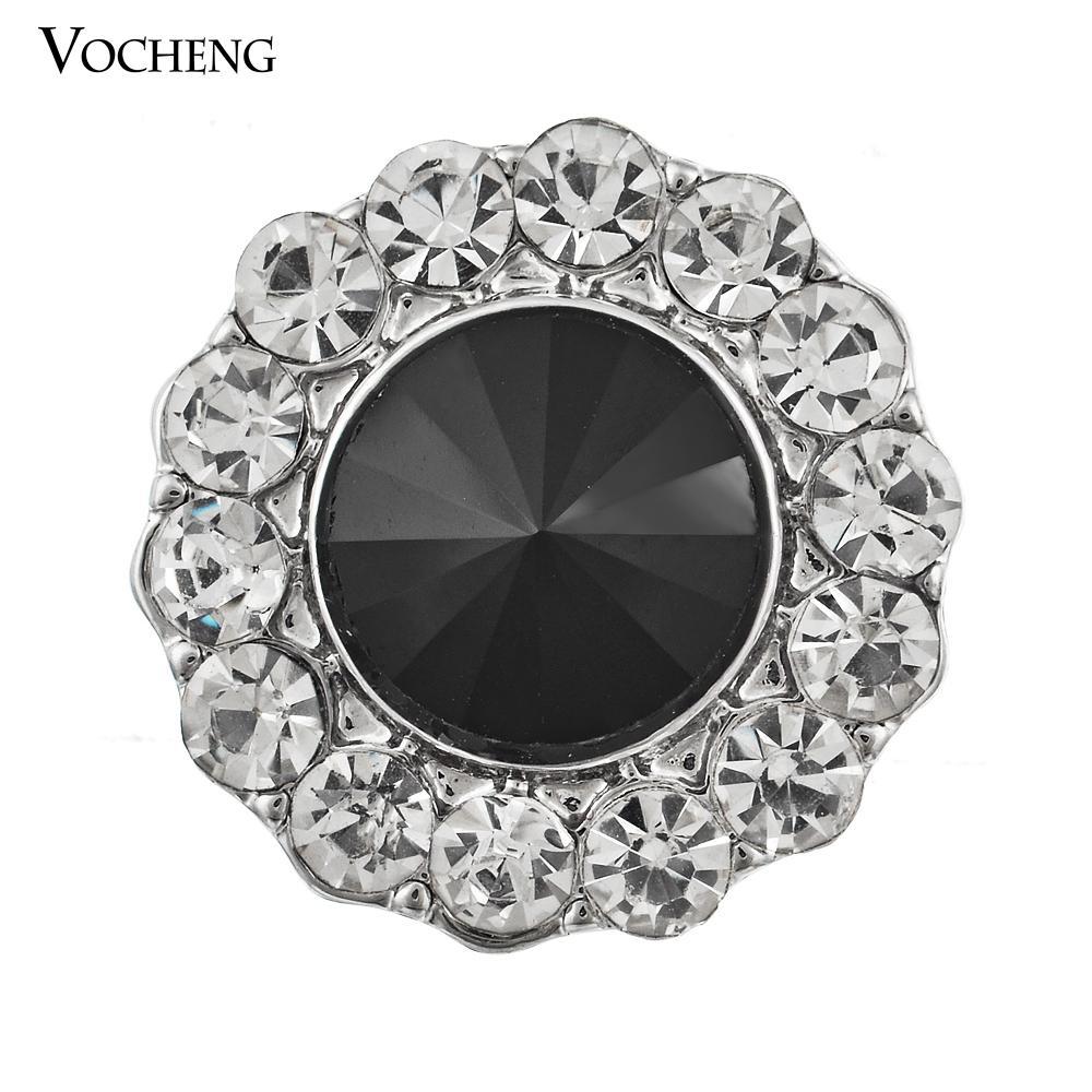 Vocheng Noosa مجوهرات ديي الإكسسوار 18 ملليمتر كريستال زر المفاجئة (Vn-124)