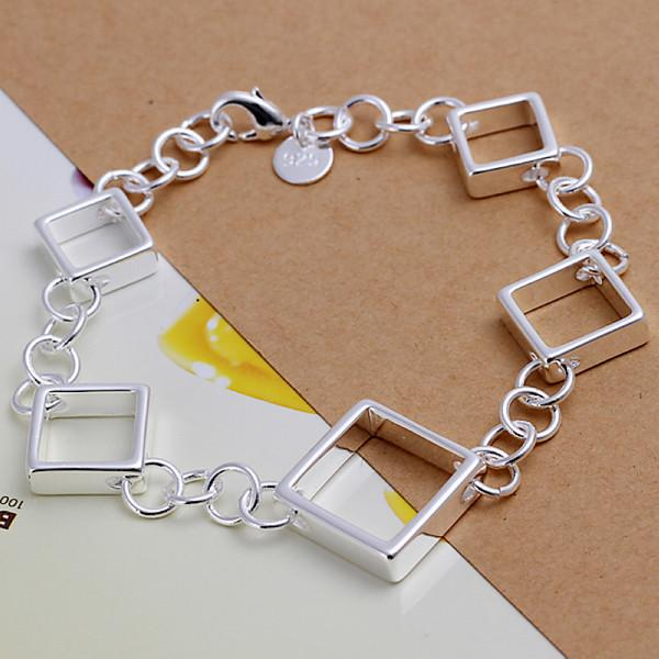 حار بيع أفضل هدية 925 الفضة الرباعية الكامل شبكة أساور DFMCH204، الأزياء 925 رابط الفضة مطلي سلسلة الأساور درجة عالية