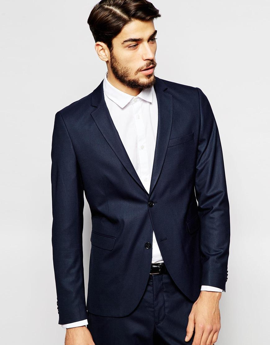 2016 Marinha Slim Fit Do Noivo Smoking Vestido de Casamento dos homens Ternos de Baile Custom Made Noivo Smoking Dois Ternos Dos Homens Dos Miúdos (Jacket + calça + Gravata)