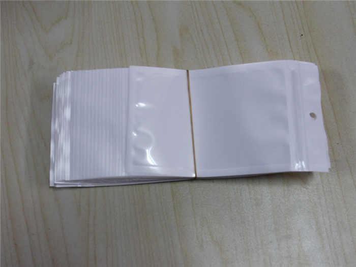 Cancella + Bianco Plastica Plastica Poly OPP Imballaggio Zipper Zip Lock Zip Pacchetti Vendita al dettaglio Cibo PVC Sacchetto di plastica 10 * 18 cm 12 * 15 cm 7.5 * 12 cm