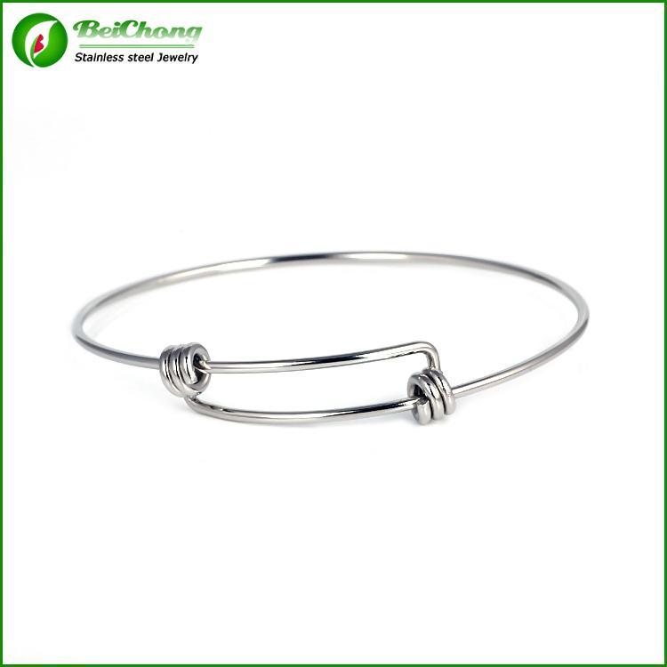 BC Schmucksache-Silbermetalledelstahl-Armbandarmbänder für Frauen 22.5cm für das Bördeln oder Charme erweiterbar Freies Verschiffen BC-039
