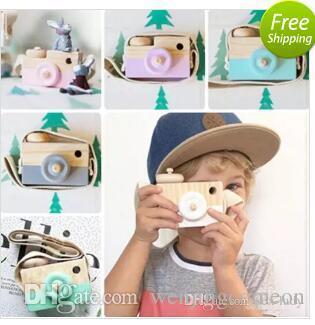 Mini giocattolo di legno della macchina fotografica di 8 colori che appende sul collo legno antistatico e naturale per la decorazione della stanza del bambino del bambino