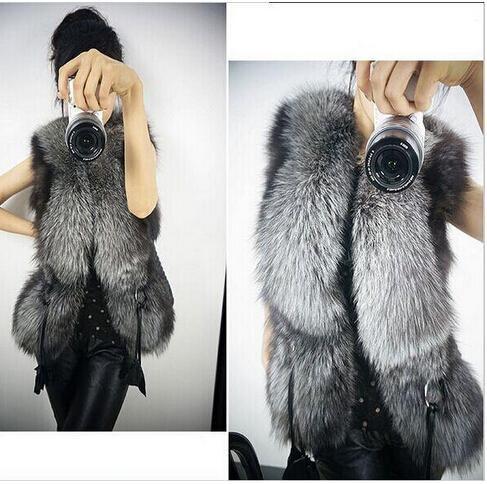 Girls Women Warm Faux Fur Vest Outerwear Coat Jacket waistcoat Tops S-3XL For WOMAN Free Shipping