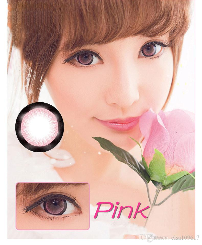 850a2b6b5ae Moonlight Series Big Eye Contacts Colorful Contact Lenses Cosmetic Colored  Eyes Pink Brown Gray ...