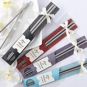 Palillos clásicos preciosos de la boda Palillos populares reutilizables de la comida Material del acero inoxidable Nuevas llegadas Venta caliente