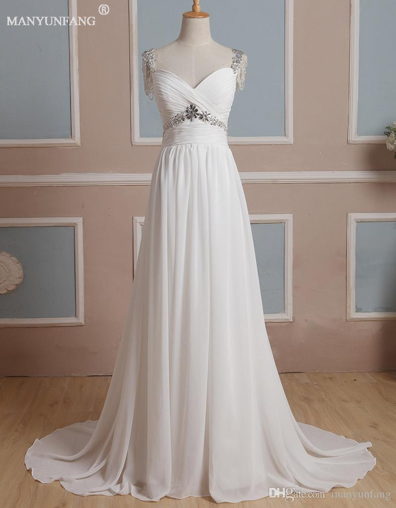 Discount 2020 High Quality Wedding Dresses A Line Chiffon Bridal Gowns With Beading Crystal Winter Beach Hollow Back Christmas Wedding Dresses Debenhams Dresses Lace Wedding Dress From Manyunfang 187 94 Dhgate Com